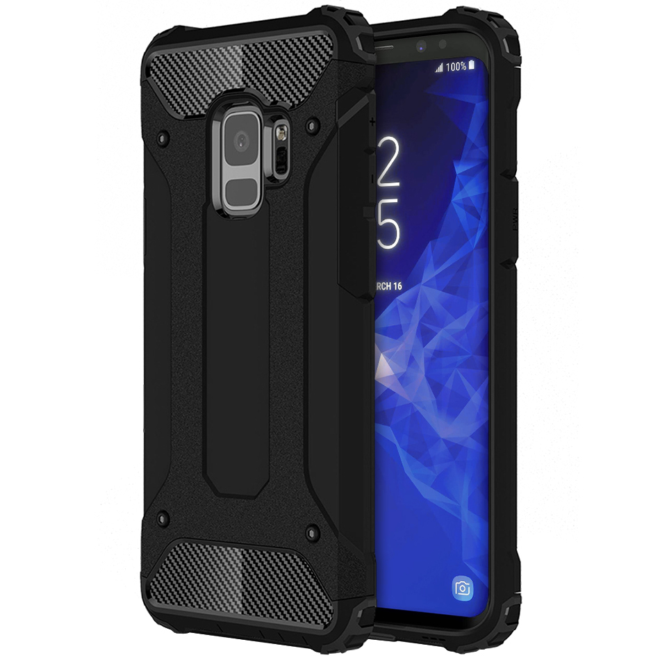 new arrival 6b085 db46c Military Defender Shockproof Case - Samsung Galaxy S9 (Black)